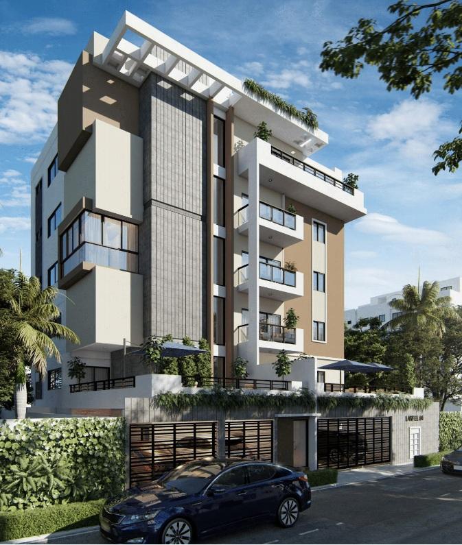 Proyecto de apartamentos en construcción con 2 habitaciones con terraza en Mirador Sur en 210,000usd 210,000